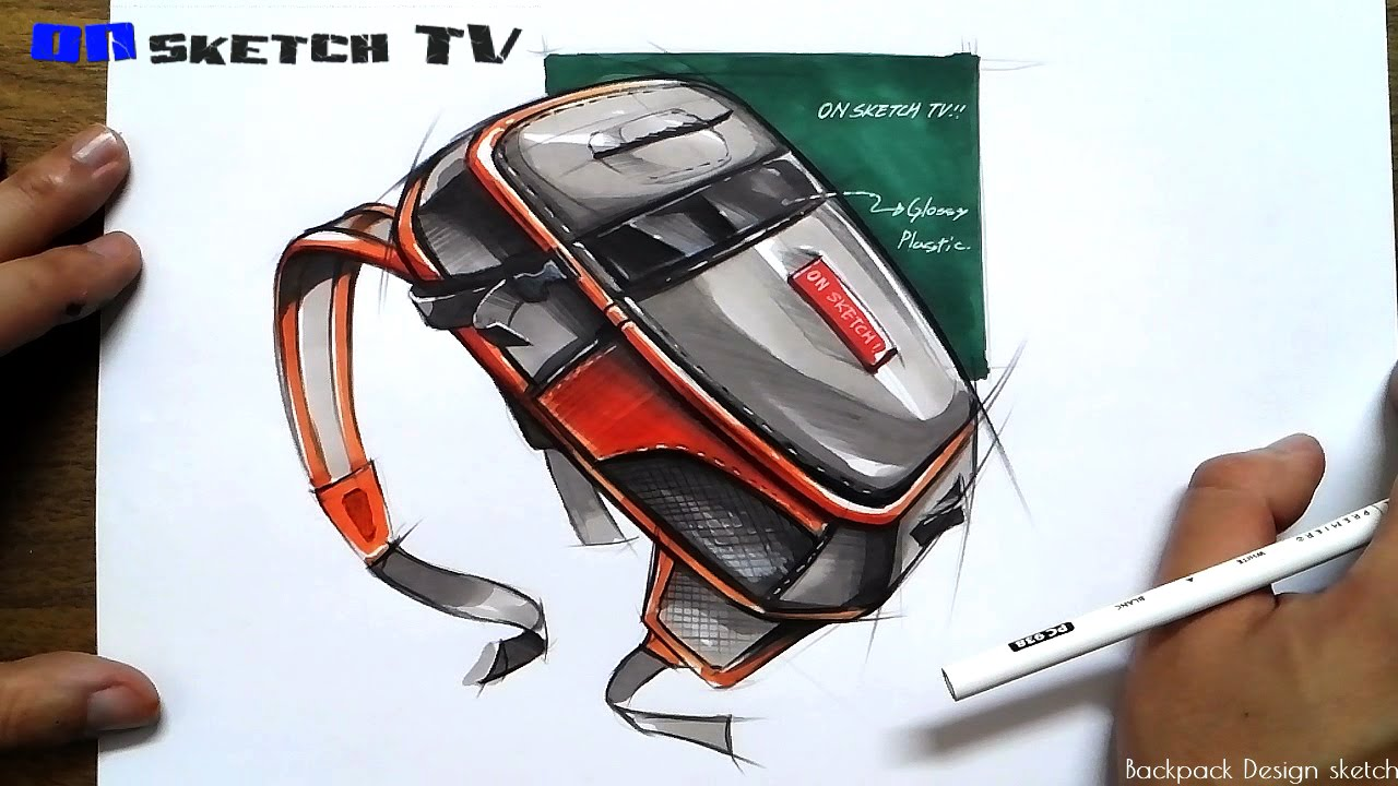 Watch Product Design Sketch