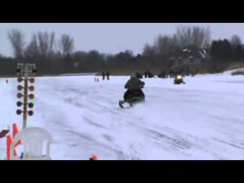 Snowmobile Race Manhattan IL.