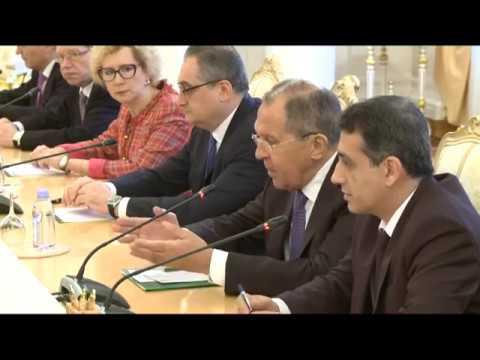 С.Лавров и С.Коммасит | Sergey Lavrov & Saleumxay Kommasith