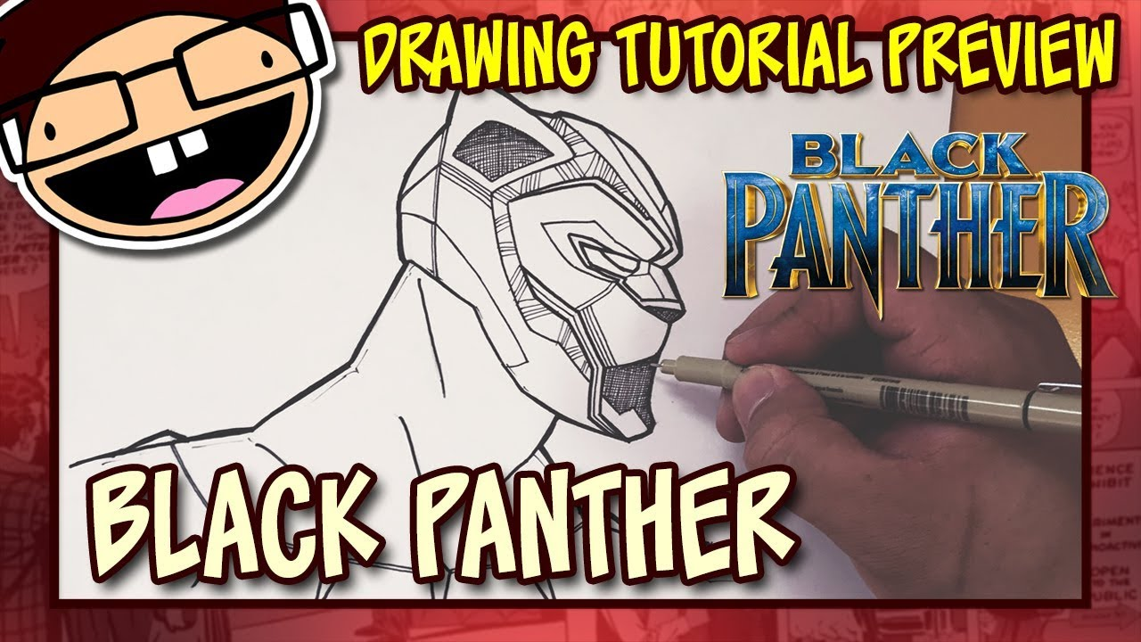 Preview how to draw black panther black panther 2018 drawing tutorial time lapse