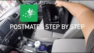 HOW TO USE POSTMATES DRIVER APP STEP BY STEP