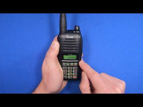 How To Save And Recall Frequencies On The Icom A16 Aviation Radio