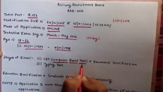 Railway Recruitment Board - RRB 2016 syllabus and How to Prepare. 2017 Video
