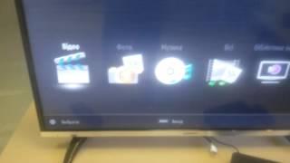 Телевизор Romsat 40F240T2. Тестирование NTFS флешки.(Телевизор читает NTFS флешки, а значит можно смотреть фильмы с очень высоким битрейтом. Если флешка не прочла..., 2016-03-15T15:17:59.000Z)