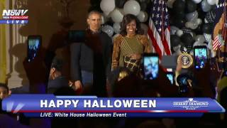fnn must watch barack obama and michelle obama do thriller dance at white house halloween event