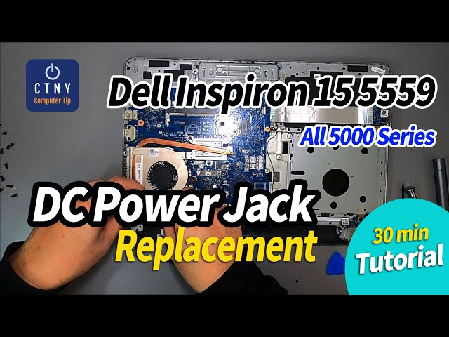 Dell Inspiron 15 5559 wont't turn on / No Power Fixed - Power Jack Replacement