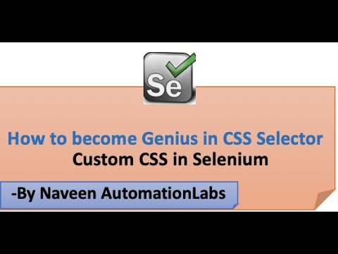 How To Become Genius In CSS Selector In Selenium || Create Custom Dynamic CSS Selectors