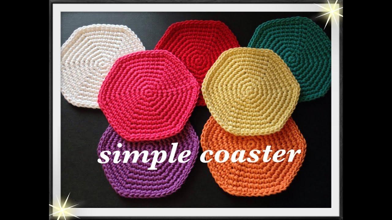 覚えやすい円の編み方☆コースターやバッグなどの底などにも♪Crochet♪鉤針入門☆編み物 , YouTube