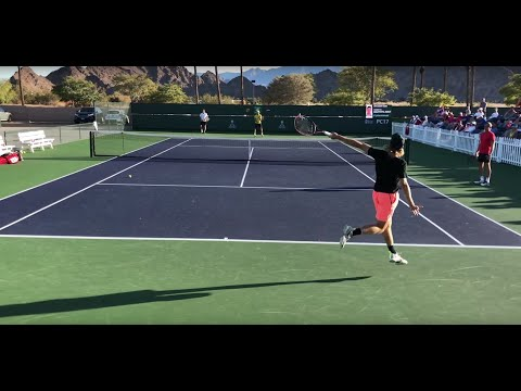Denis Shapovalov / Roberto Bautista Agut Practice (Court Level 60fps)