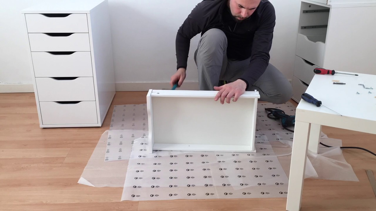 Ikea alex linnmon assembling timelapse youtube