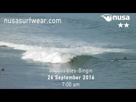 26-09-2016 /✰✰ / NUSA's Daily Surf Video Report from the Bukit, Bali.