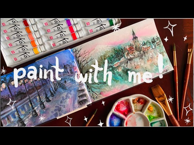[VIDEO] ❆ cozy winter watercolor paint with me ❆