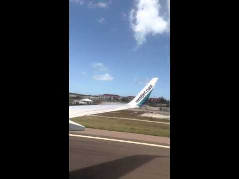Turks an Caicos landing west jet flight