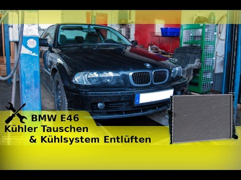 bmw e46 k hler tauschen k hlsystem entl ften youtube. Black Bedroom Furniture Sets. Home Design Ideas