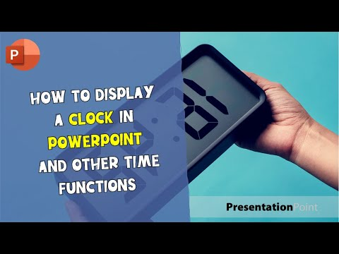 How to display a clock in PowerPoint and other time functions