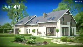 4M554 Проект симметричного дома на две семьи, 10 на 12 каждый