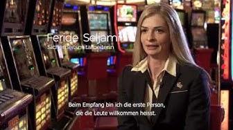 Arbeiten im Casino - Sicherheitsmitarbeiterin