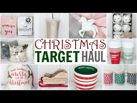 TARGET CHRISTMAS DECOR HAUL! ♡ DOLLAR SPOT & SUGAR PAPER ♡ 2017