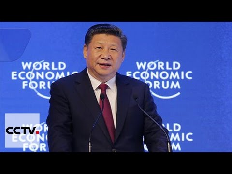 Chinese President Xi Jinping delivers keynote speech at WEF opening ceremony