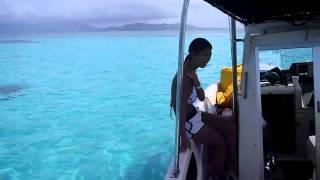 ライズがボートで向かう竹富沖のシュノーケルポイントです!