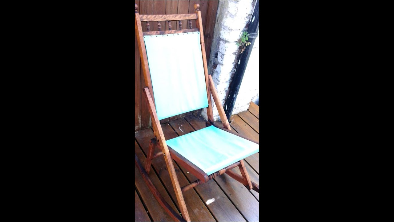 Antique folding rocking chair - Antique Folding Rocking Chair - YouTube