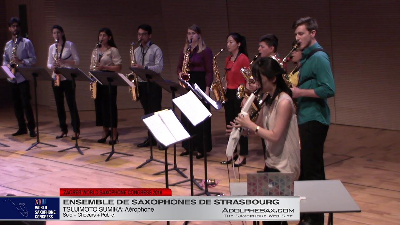 Aerophone by Tsujimoto Sumika   Ensemble de Saxophones de Strasbourg   XVIII World Sax Congress 2018