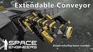 Space Engineers - Simple Extendable Conveyor System