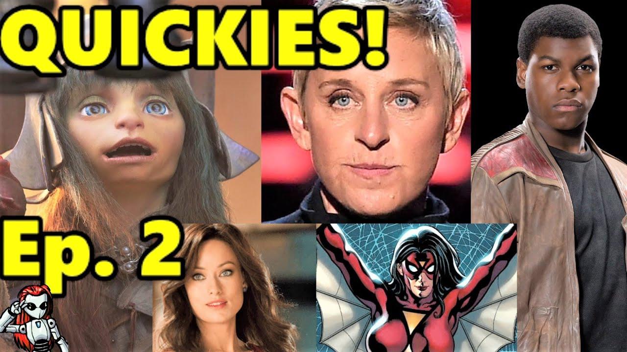 Mecha's Entertainment Quickies Ep 2 | Dark Crystal, Female Spiderperson Movie, Ellen, & Mor