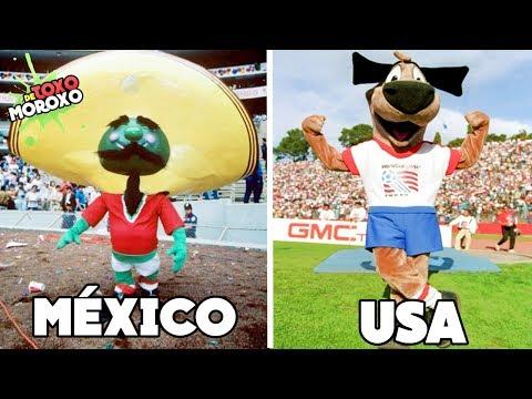 Las 7 PEORES MASCOTAS De Los MUNDIALES De Futbol