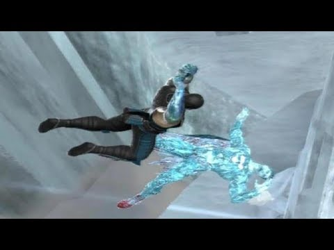 Mortal Kombat Vs DC Universe  - All Freefall Super Moves And Stage Transitions