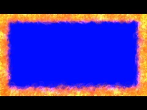 Border Fire Chroma Key Blue