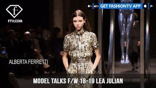 Lea Julian Model Talks Fall/Winter 2018-19 | FashionTV | FTV