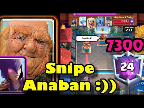 ????Sniper Anaban ????Giant Witch Destroyed Ladder 7300 - Clash Royale