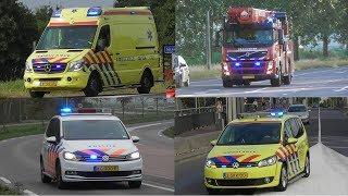 Politie, Brandweer en Ambulances met spoed in Beuningen