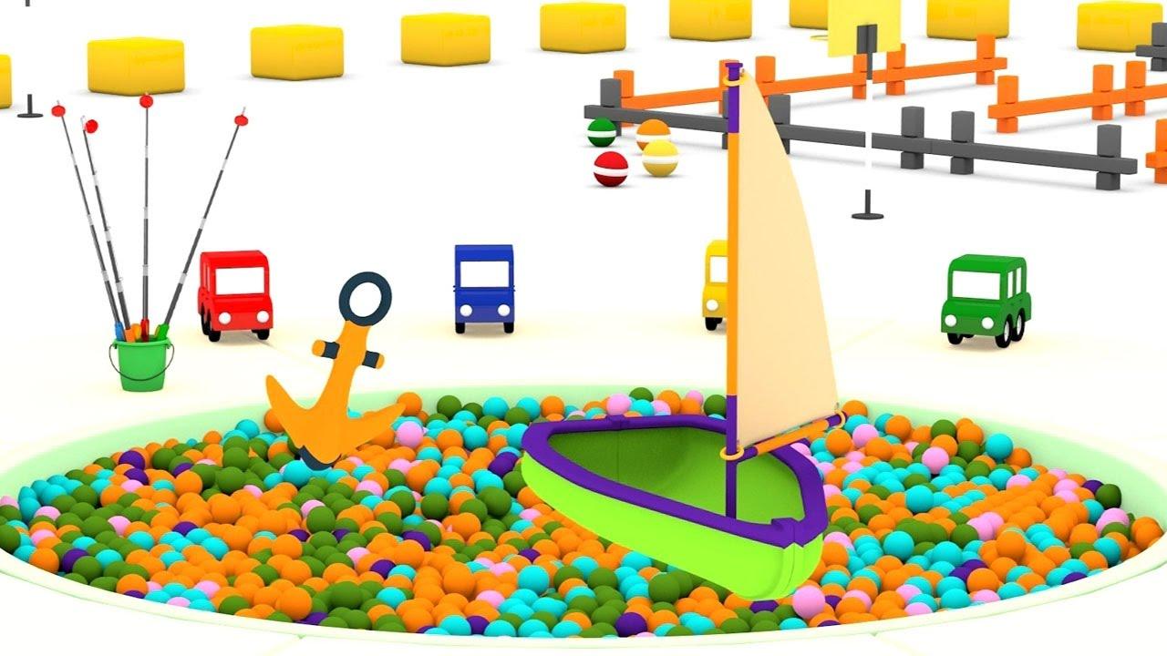 Cartoni animati per bambini macchinine colorate e la