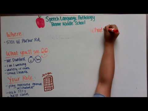 2016 One Minute Clinical Video - Speech Language Pathology at Renner Middle School