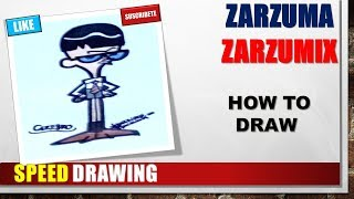 SPEED DRAWING HOW TO DRAW A MANDARK ESTEP BY STEP EASY AND FAST