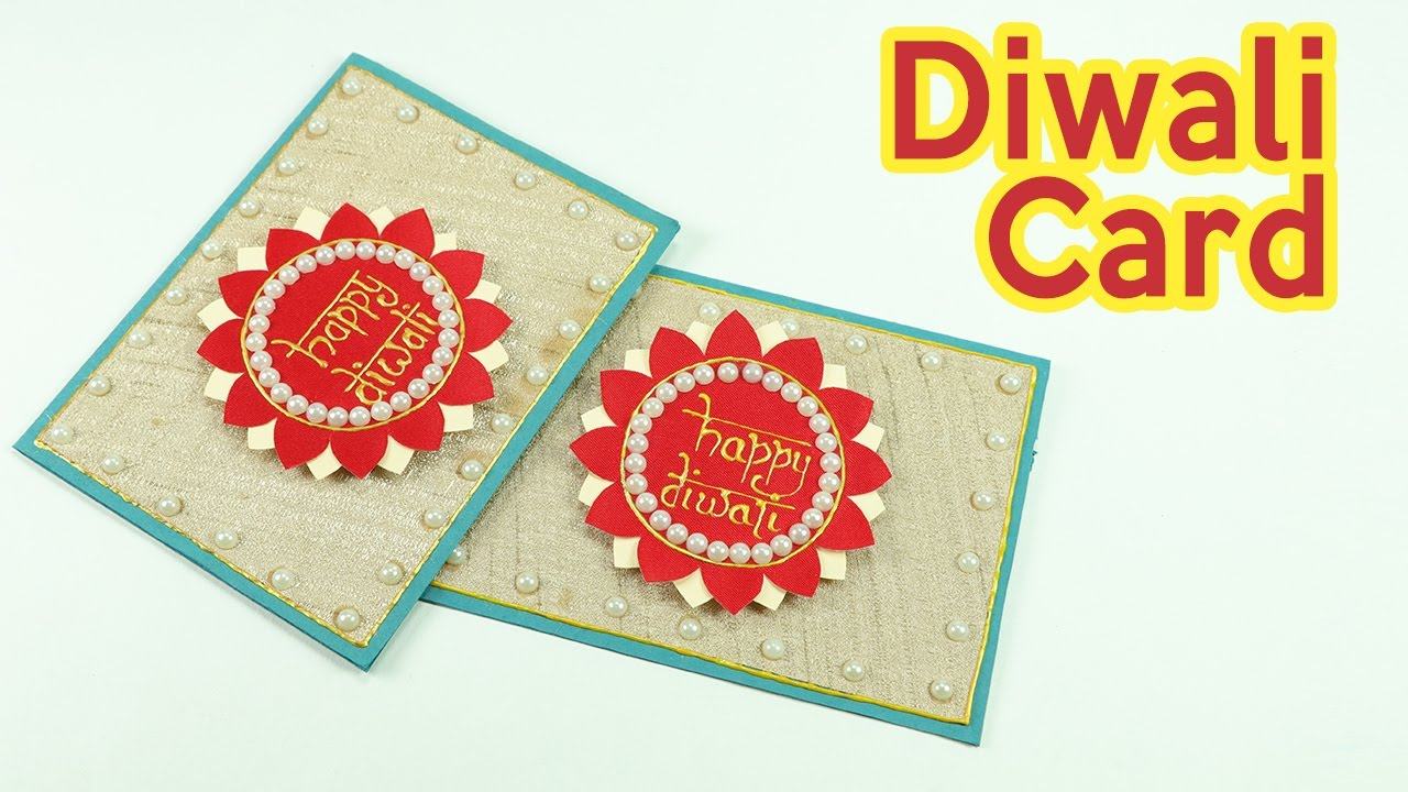 Diwali greeting cards how to make diwali cards step by step youtube m4hsunfo