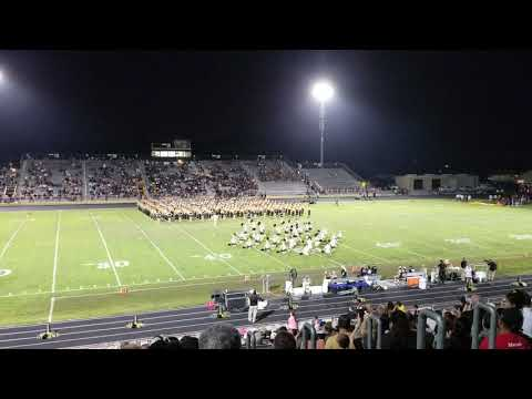 Nederland High School Band vs Beaumont United Sept 7 2018 #1