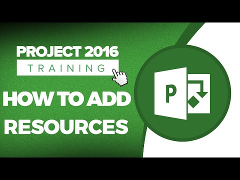 Microsoft Project 2016 Tutorial - Adding Resources to a Project Using the Resource Sheet