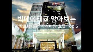 Gambar cover (2019년) 빅데이터로 알아보는 자카르타 추천 가성비짱 호텔 Top 5
