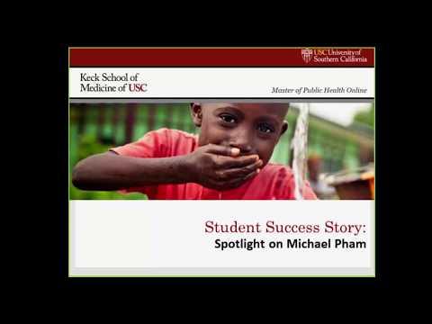 Live Webinar USC MPH Student Success Story Spotlight on Michael Pham
