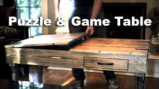 Building A DIY Puzzle and Game Table