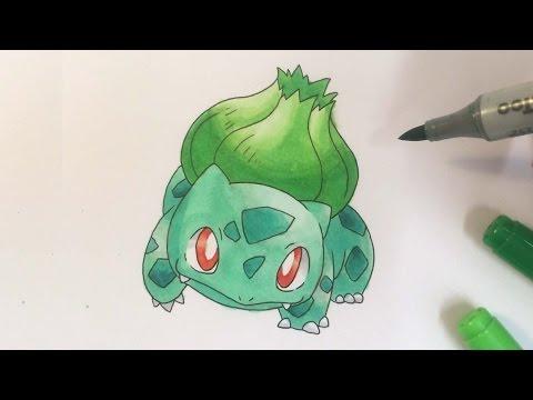 Pokémon zeichnen: #001 Bisasam