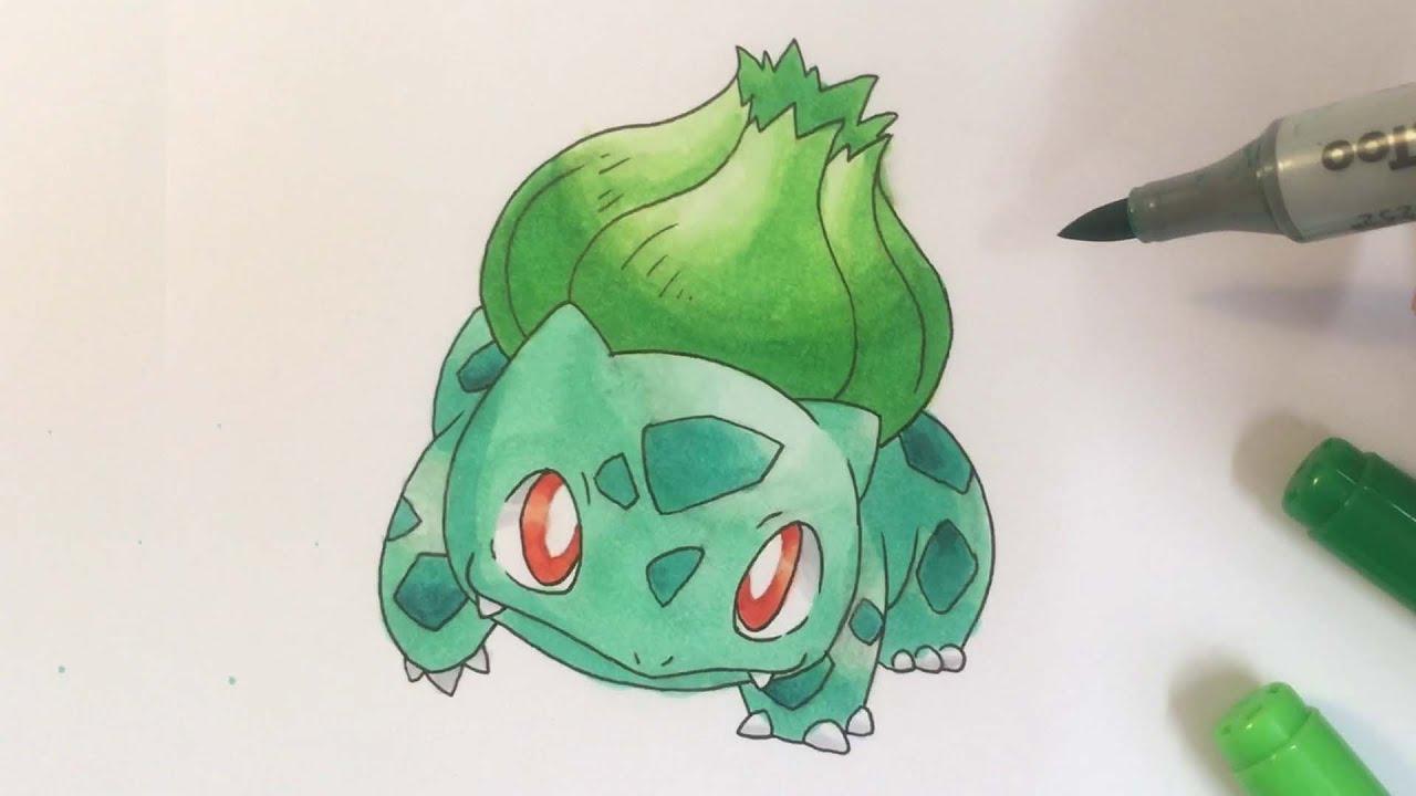 Pokémon Zeichnen 001 Bisasam