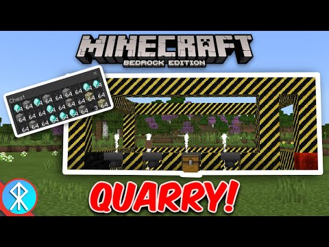 Minecraft QUARRY Addon (Bedrock/MCPE/Xbox)