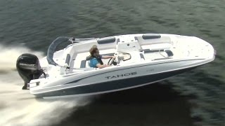 TAHOE Boats: 2017 2150 Deck Boat Full Review by Power Boat Television