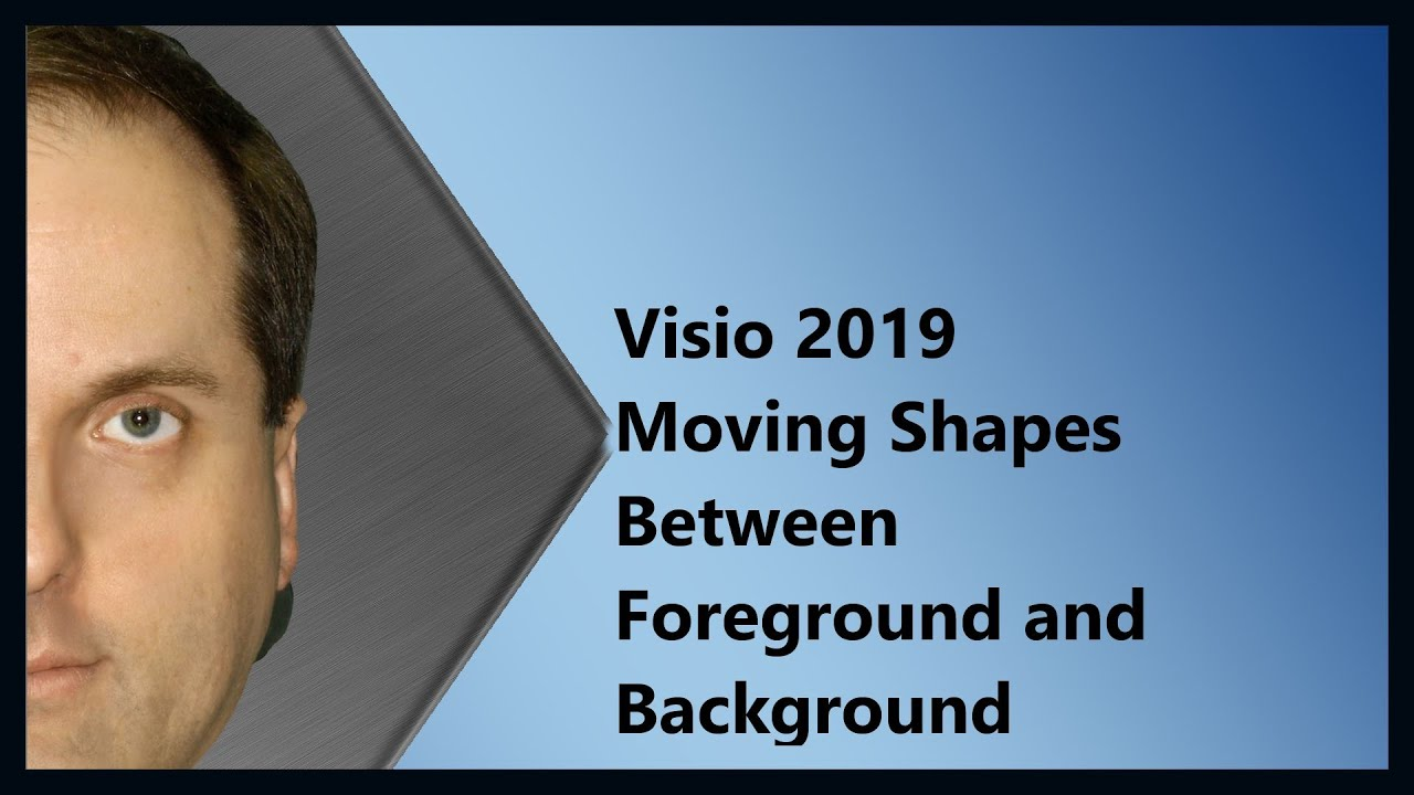 visio 2019 moving shapes between foreground and background