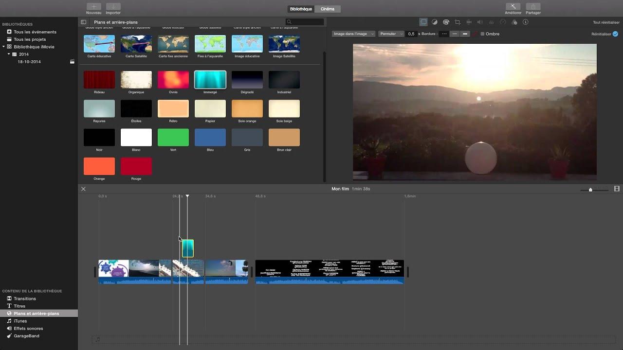 Inserer Une Image Video Dans Une Video Image Dans Imovie Osx Youtube