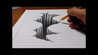 Drawing Incredible Hole Illusion - 3D Trick Art on Paper - 3D Trick Art